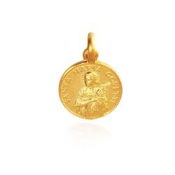 Święta Maria Goretti. Medalik złoty. 12 mm. 1,7 g Gold Urbanowicz