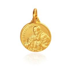 Święty Leopold Mandić Spowiednik. Złoty medalik. średnica 14 mm. 2,2 g Gold Urbanowicz