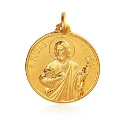 Święty Tadeusz Juda. Patron spraw trudnych i beznadziejnych. 18 mm, Złoty medalik, 3,7 g Gold Urbanowicz