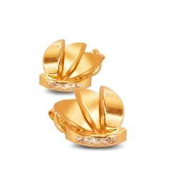 Złote Płatki. Kolczyki ze złota. 0.9 g Gold Urbanowicz