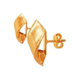 Złote Wstążki. Kolczyki ze złota. 0.9 g