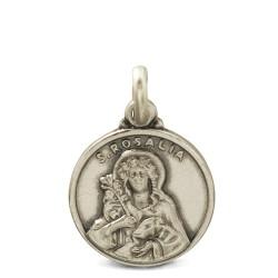 Srebrny medalik świętej Rozalii. Gold Urbanowicz 14mm