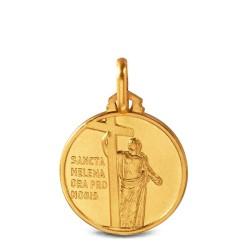 Święta Helena. Złoty medalik. 16 mm, 2,9 g