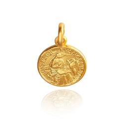 Święty Jan Ewangelista. Złoty medalik 2,2 g Gold Urbanowicz