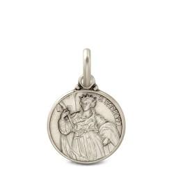 Święta Barbara. srebrny medalik oksydowany. Medalik św Barbary. 1.8 g Gold Urbanowicz