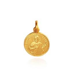 Święty Tadeusz Juda. 2,3 g Złoty medalik 14mm, Gold Urbanowicz
