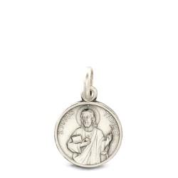 Święty Tadeusz Juda. 12mm, Medalik ze srebra oksydowanego. Medalik Judy Tadeusza. Gold Urbanowicz