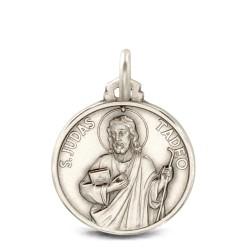 Święty Tadeusz Juda. Medalik ze srebra oksydowanego. 18mm, Medalik Judy Tadeusza. Gold Urbanowicz