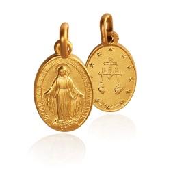 Cudowny Medalik. Szkaplerz. Złoty medalik. 4,2 g Gold Urbanowicz