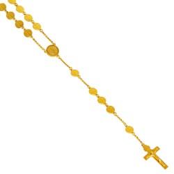 Złoty różaniec Świętego Benedykta. Różaniec ze złota ze św Benedyktem. 100 g