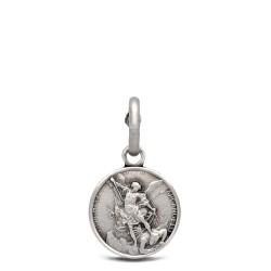 MIchał Archanioł. 1.0 g Medalik ze srebra oksydowanego. Gold Urbanowicz.