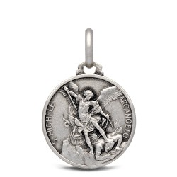 Michał Archanioł. 2,4 g 16 mm Medalik ze srebra oksydowanego. Gold Urbanowicz.