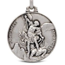 Michał Archanioł. medalik ze srebra, 25 mm, 7,5 g