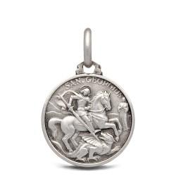 Święty Jerzy. Patron artystów, żołnierzy, wędrowców. Srebrny medalik. 16 mm 2.6 g Gold Urbanowicz