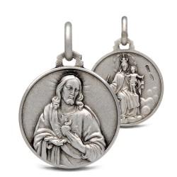 Matka Boska Szkaplerzna. Szkaplerz Karmelitański. 3,7 g 18mm, Medalik ze srebra oksydowanego. Gold Urbanowicz