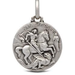 Święty Jerzy. Patron artystów, żołnierzy, wędrowców. Srebrny medalik. 21 mm 5,0g Gold Urbanowicz