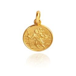Święty Krzysztof. 2,2 g 14mm, Złoty medalik Gold Urbanowicz