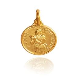 Jan Chrzciciel. Złoty medalik 14 mm, Medalik Jana Chrzciciela. Gold Urbanowicz