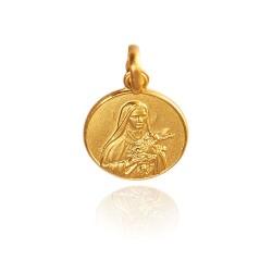 Święta Teresa. 3,6 g 18mm, Złoty medalik Gold Urbanowicz