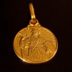 Święta Barbara. 4,0g 18mm, Złoty medalik. Gold Urbanowicz
