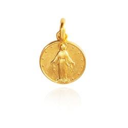 Najświętsza Maria Panna Niepokalanego Poczęcia. 3,6 g Złoty medalik. Gold Urbanowicz 18mm