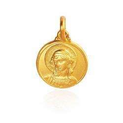 Archanioł Gabriel. medalik złoty. 4,1 g 18mm, Gold Urbanowicz