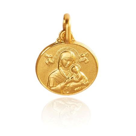 Matka Boża Nieustającej Pomocy. Złoty medalik, 10 mm, 1,1 g