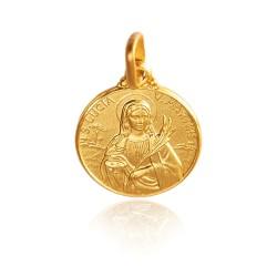 Święta Łucja. Mały Złoty medalik 1,2 g 10mm, Gold Urbanowicz