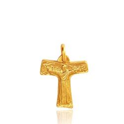 Złoty krzyż franciszkański. Krzyż wykonany ze złota o próbie 585. 4,1 g GoldUrbanowicz