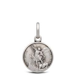 Michał Archanioł. 15 g 12 mm Medalik ze srebra oksydowanego. Gold Urbanowicz.