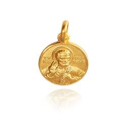Święty Piotr. Złoty Medalik Gold Urbanowicz 18mm