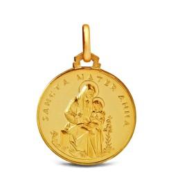 Święta Anna. 3,7g 18mm, Złoty medalik Gold Urbanowicz