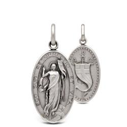 Srebrny Medalion z Jezusem Zmartwychwstałym. Gold Urbanowicz 3.3g
