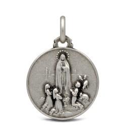 Matka Boska Fatimska, medalik ze srebra 18mm, 3,1g
