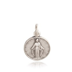 Najświętsza Maria Panna Niepokalanego Poczęcia. 1,26 g Srebrny medalik. Medalik Matki Boskiej Niepokalanej Gold Urbanowicz