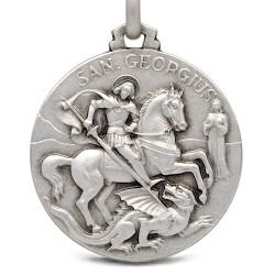 Shop online Święty Jerzy. Patron artystów, żołnierzy. Duży Srebrny medalik. 25 mm 7.2g Gold Urbanowicz