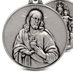 Matka Boska Szkaplerzna. Szkaplerz Karmelitański. 14 g 30mm, Medalion ze srebra oksydowanego. Gold Urbanowicz