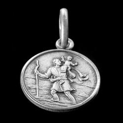 Święty Krzysztof.Patron Kierowców. Medalik srebrny. 1.3g 12mm, Gold Urbanowicz