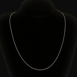 Piękny łańcuszek srebrny. 45 cm 2.5 g Łańcuszek ze srebra, lśniący