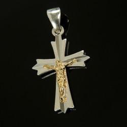 Srebrny krzyżyk, pozłacany. Gold Urbanowicz 1,7 g