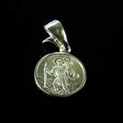 Medalik ze srebra. Święty Krzysztof Gold Urbanowicz1,3 g 14 mm