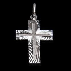 Krzyżyk srebrny. Dwustronny. 2,3 g