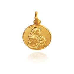 Matka Boska z dzieciątkiem. 1,7 g Złoty medalik Gold Urbanowicz