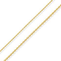 Złoty łańcuszek, splot tradycyjny, 42 cm. 1,25 gr