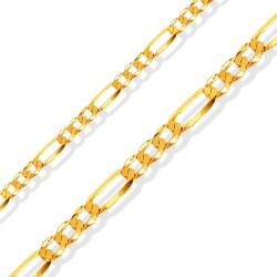 Złoty łańcuszek, nowoczesny splot, 45 cm  5,2 g