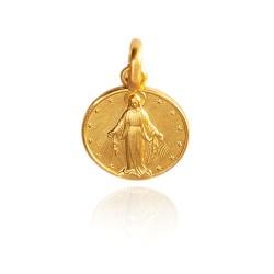 Najświętsza Maria Panna Niepokalanego Poczęcia. Złoty medalik, 10 mm Gold Urbanowicz