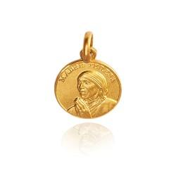 Matka Teresa z Kalkuty. 12 mm, Złoty medalik Matki Teresy z Kalkuty. Gold Urbanowicz