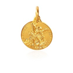Święty Michał Archanioł. Złoty medalik 2,2 g 14mm, Gold Urbanowicz