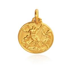 Święty Andrzej Apostoł. Patron zakochanych i małżeństw. Złoty medalik 16 mm 3 g Gold Urbanowicz
