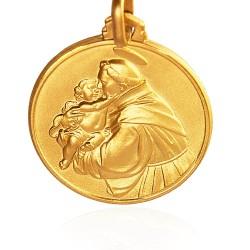 Święty Antoni. Złoty medalik. średnica 25 mm. 8,8 g Gold Urbanowicz